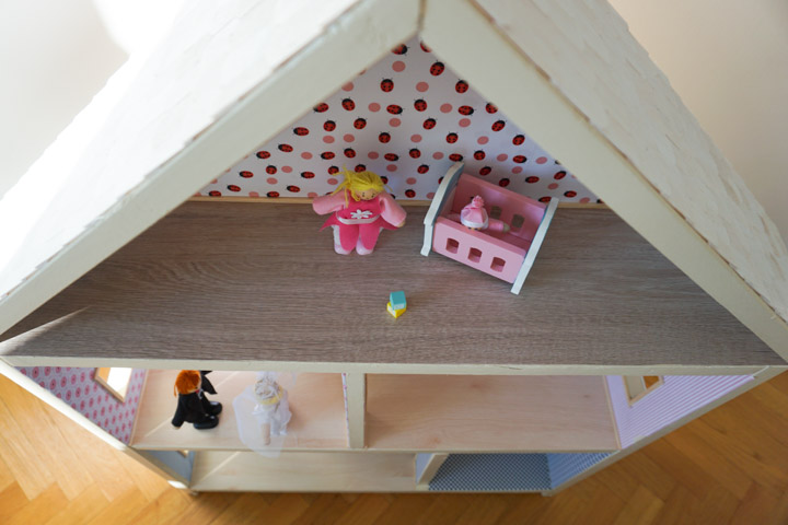 Kućica za lutke odozgo