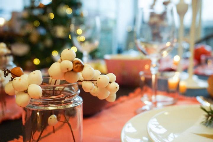 Bele bobice kao dekoracija