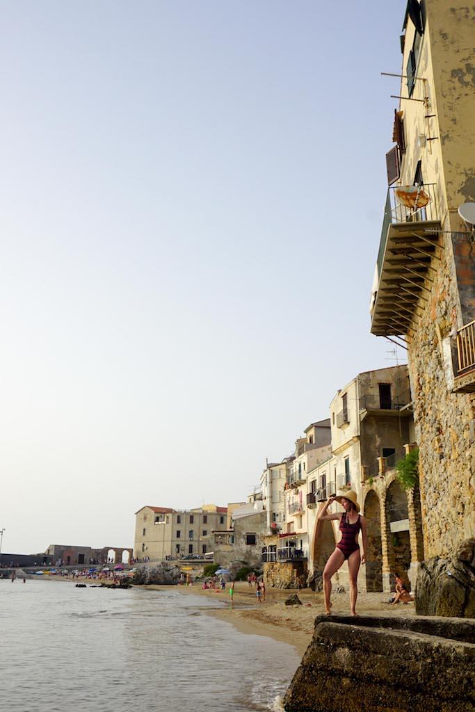 Čefalu plaža Sicilija