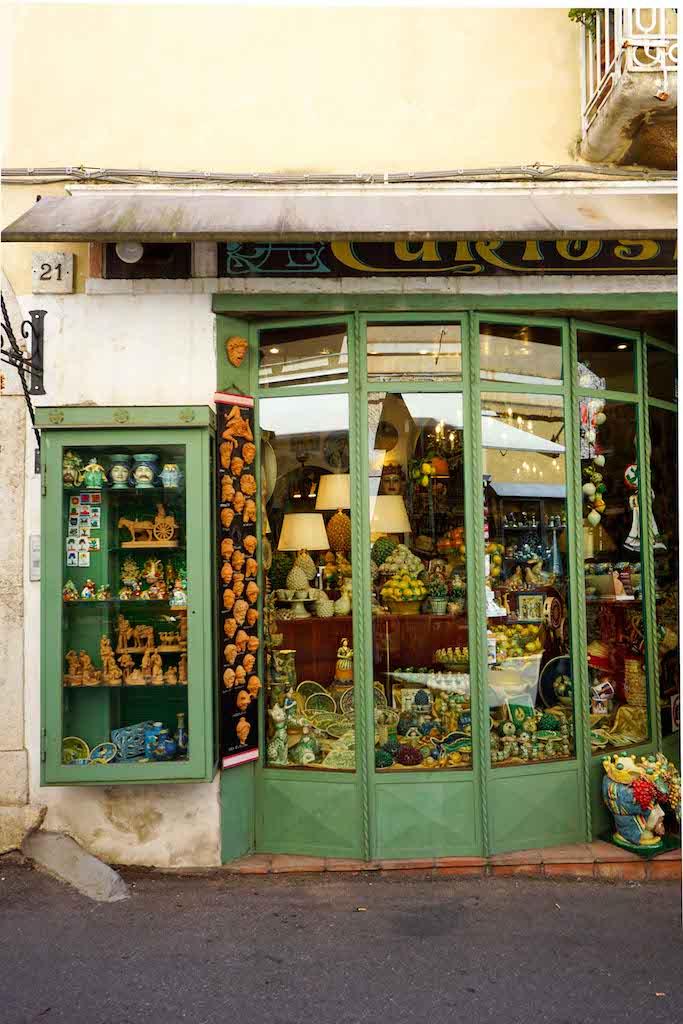 prodavnica suvenira Taormina Sicilija