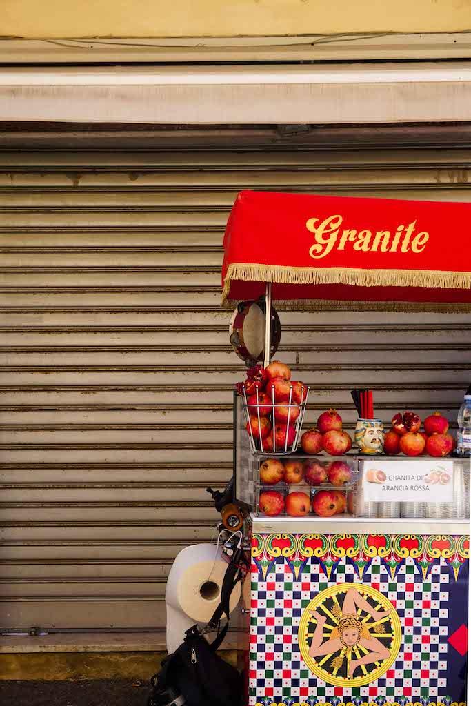 Granite - osvežavajuće piće koje se pravi iz mrvljenog leda i svežeg voća, Palermo